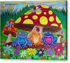Happy Frog Meadows Acrylic Print by Nick Gustafson