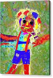 Happy Go Lucky Acrylic Print by Mimo Krouzian