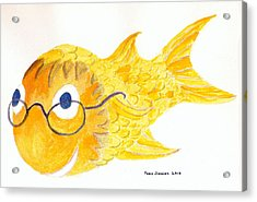 Happy Golden Fish Acrylic Print