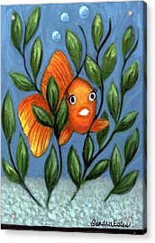 Happy Goldfish Acrylic Print by Sandra Estes