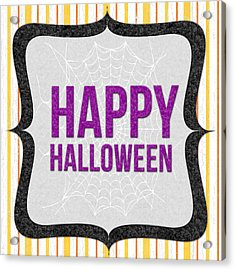 Happy Halloween-art By Linda Woods Acrylic Print by Linda Woods