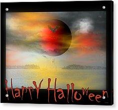 Happy Halloween Acrylic Print by Linda Galok