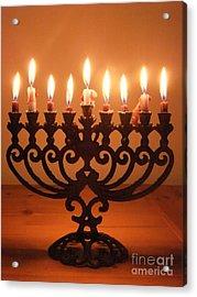 Happy Hanukkah Acrylic Print by Annemeet Hasidi- van der Leij