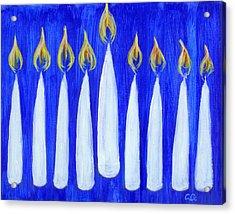 Happy Hanukkah Acrylic Print by BlondeRoots Productions