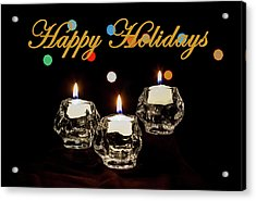 Acrylic Print featuring the photograph Happy Holiday Candles by Ed Clark