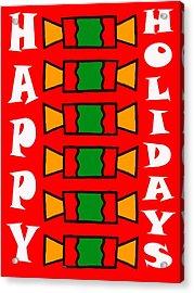 Happy Holidays 7 Acrylic Print by Patrick J Murphy