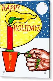 Happy Holidays 72 Acrylic Print by Patrick J Murphy