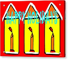 Happy Holidays 96 Acrylic Print by Patrick J Murphy