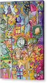 Happy Holidays Acrylic Print by Claudia Cole Meek
