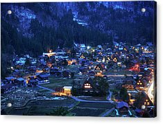 Acrylic Print featuring the photograph Happy Holidays From Japan by Peter Thoeny