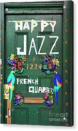 Happy Jazz French Quarter Acrylic Print by John Rizzuto