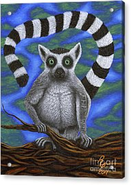 Happy Lemur Acrylic Print