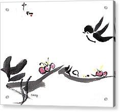 Happy Little Swallow Acrylic Print
