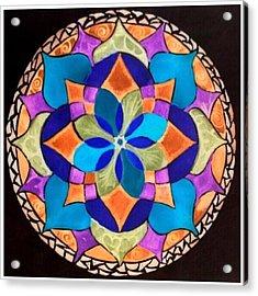 Happy Mandala  Acrylic Print by Sandra Lira