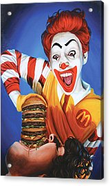 Happy Meal Acrylic Print by Kelly Gilleran