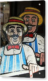 happy meat Makers Acrylic Print by Jez C Self