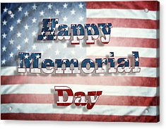 Happy Memorial Day Acrylic Print by Les Cunliffe