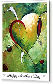 Happy Mother's Day By Madart Acrylic Print by Megan Duncanson