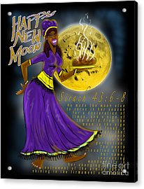 Happy New Moon Sirach 43 Acrylic Print