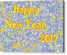 Happy New Year 2017 Acrylic Print by Jean Bernard Roussilhe