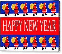 Happy New Year 7 Acrylic Print by Patrick J Murphy