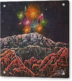 Happy New Year From America's Mountain Acrylic Print