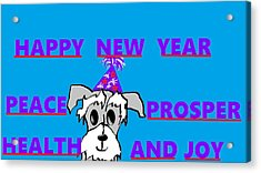 Happy New Year Acrylic Print