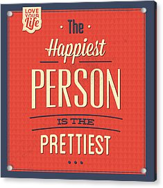 Happy Person Acrylic Print
