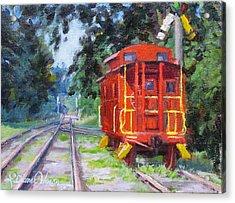 Happy Rails Acrylic Print by L Diane Johnson