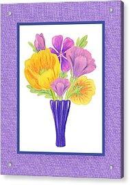 Happy Summer Bouquet Sweet And Purple Acrylic Print by Irina Sztukowski