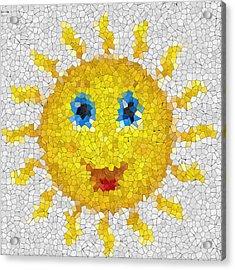 Happy Sun Glass Mosaic Acrylic Print