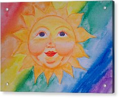 Happy Sun Acrylic Print by Jennifer Hernandez