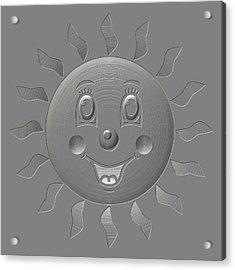 Happy Sun Metal Relief Acrylic Print
