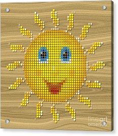 Happy Sun Pixelated Acrylic Print