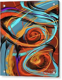 Acrylic Print featuring the painting Happy by S G