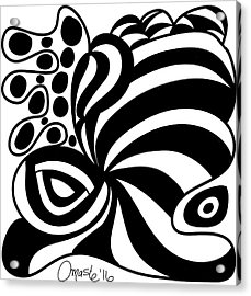 Happy Thanksgiving 2016 Abstract Black And White Art By Omashte Acrylic Print