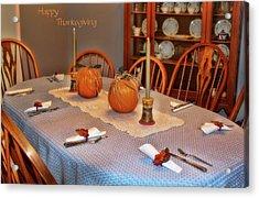 Happy Thanksgiving Acrylic Print by Joan Bertucci