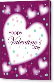 Happy Valentine's Day Acrylic Print by Hye Ja Billie