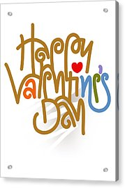 Happy Valentine's Day Poster Acrylic Print