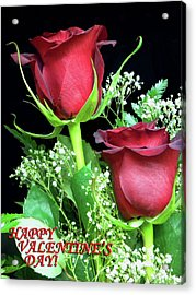 Acrylic Print featuring the photograph Happy Valentines Day by Sandi OReilly