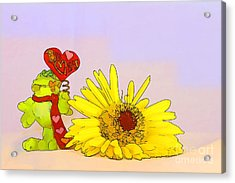 Acrylic Print featuring the photograph Happy Valentine's Day by Teresa Zieba