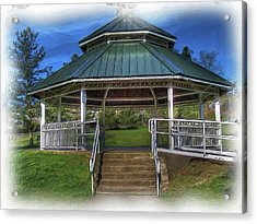 Acrylic Print featuring the photograph Happy Valley Gazebo Art  by Thom Zehrfeld