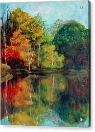 Happy Valley Pond Acrylic Print by Lyn Vic