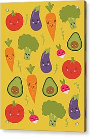 Happy Vegetables Acrylic Print