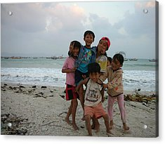 Happy Vietnamese Kids Acrylic Print