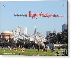 Happy Whacky Holidays Acrylic Print by Wingsdomain Art and Photography