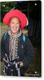 Happy Woman From Sa Pa North Vietnam Acrylic Print