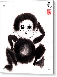 Happy Year Of The Monkey Acrylic Print by Oiyee At Oystudio