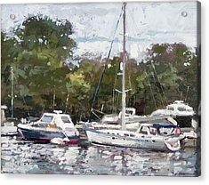 Hapuna Maru Acrylic Print by Larry Seiler