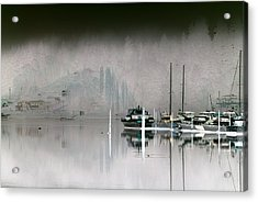 Harbor And Boats Acrylic Print